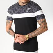 /achat-t-shirts/final-club-tee-shirt-damier-tricolore-avec-broderie-256-blanc-noir-gris-182596.html