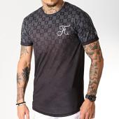 /achat-t-shirts-longs-oversize/final-club-tee-shirt-oversize-damier-degrade-avec-broderie-258-noir-gris-182603.html