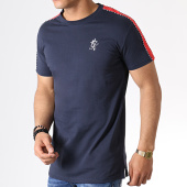 /achat-t-shirts/gym-king-tee-shirt-a-bandes-jones-bleu-marine-rouge-182452.html
