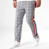 /achat-pantalons-carreaux/sixth-june-pantalon-a-carreaux-avec-bandes-m3554vpa-gris-182533.html