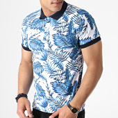 /achat-polos-manches-courtes/classic-series-polo-manches-courtes-floral-5004-blanc-bleu-182849.html