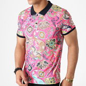 /achat-polos-manches-courtes/classic-series-polo-manches-courtes-floral-5002-rose-182853.html