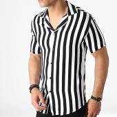 /achat-chemises-manches-courtes/classic-series-chemise-manches-courtes-a-rayures-4007-blanc-noir-182856.html