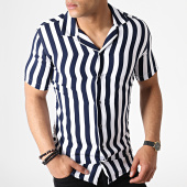 /achat-chemises-manches-courtes/classic-series-chemise-manches-courtes-a-rayures-4004-blanc-bleu-marine-182859.html