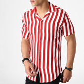 /achat-chemises-manches-courtes/classic-series-chemise-manches-courtes-a-rayures-4001-blanc-rouge-182878.html