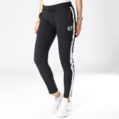 /achat-pantalons-joggings/sergio-tacchini-pantalon-jogging-femme-a-bandes-cacia-38211-noir-blanc-182784.html