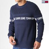 /achat-pulls/tommy-hilfiger-jeans-pull-tape-6536-bleu-marine-182832.html
