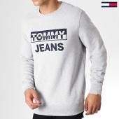 /achat-sweats-col-rond-crewneck/tommy-hilfiger-jeans-sweat-crewneck-split-block-logo-6674-gris-chine-182839.html
