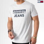 /achat-t-shirts/tommy-hilfiger-jeans-tee-shirt-split-block-logo-6853-gris-chine-182840.html
