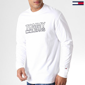 /achat-t-shirts-manches-longues/tommy-hilfiger-jeans-tee-shirt-manches-longues-contoured-corp-6858-blanc-182844.html