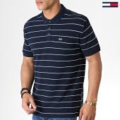 /achat-polos-manches-courtes/tommy-hilfiger-jeans-polo-manches-courtes-essential-fine-stripe-6865-bleu-marine-182845.html