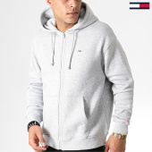 /achat-sweats-zippes-capuche/tommy-jeans-sweat-zippe-capuche-tommy-classics-6866-gris-chine-182848.html
