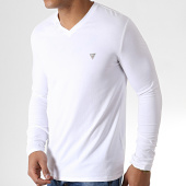 /achat-t-shirts-manches-longues/guess-tee-shirt-manches-longues-col-v-m93i54j1300-blanc-182971.html