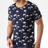 /achat-t-shirts/indicode-jeans-tee-shirt-hammersmith-floral-bleu-marine-ecru-182911.html