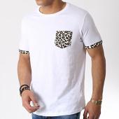 /achat-t-shirts-poche/brave-soul-tee-shirt-poche-leopard-felin-blanc-183198.html