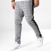 /achat-pantalons-carreaux/brave-soul-pantalon-carreaux-avec-bandes-thomas-gris-noir-183202.html