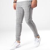 /achat-pantalons-carreaux/brave-soul-pantalon-carreaux-avec-bandes-boston-gris-blanc-noir-183213.html
