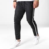 /achat-pantalons-carreaux/classic-series-pantalon-a-bandes-88039-noir-blanc-183226.html