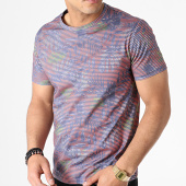 /achat-t-shirts/classic-series-tee-shirt-a-rayures-floral-mk-18130-rouge-violet-vert-183242.html