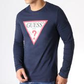 /achat-t-shirts-manches-longues/guess-tee-shirt-manches-longues-m93i57k8fq0-bleu-marine-183081.html