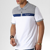 /achat-polos-manches-courtes/guess-polo-manches-courtes-m93p35k8rc0-blanc-gris-chine-183158.html