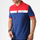 /achat-polos-manches-courtes/guess-polo-manches-courtes-m93p35k8rc0-bleu-marine-rouge-183167.html