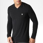 /achat-t-shirts-manches-longues/guess-tee-shirt-manches-longues-col-v-m93i54j1300-noir-183175.html