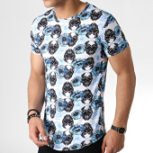 /achat-t-shirts-longs-oversize/john-h-tee-shirt-oversize-it-012-blanc-bleu-clair-floral-183179.html