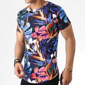 /achat-t-shirts-longs-oversize/john-h-tee-shirt-oversize-it-003-noir-bleu-marine-floral-183180.html