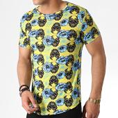 /achat-t-shirts-longs-oversize/john-h-tee-shirt-oversize-it-011-jaune-bleu-clair-floral-183181.html