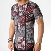 /achat-t-shirts-longs-oversize/john-h-tee-shirt-oversize-it-004-noir-bordeaux-bandana-183182.html