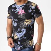 /achat-t-shirts-longs-oversize/john-h-tee-shirt-oversize-floral-bandana-it-026-noir-183187.html