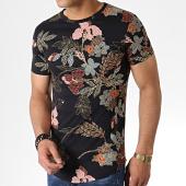 /achat-t-shirts-longs-oversize/john-h-tee-shirt-oversize-it-019-noir-floral-183192.html