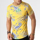 /achat-t-shirts-longs-oversize/john-h-tee-shirt-oversize-bandana-floral-it-029-jaune-183194.html