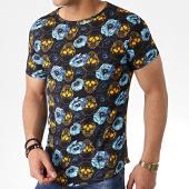/achat-t-shirts-longs-oversize/john-h-tee-shirt-oversize-floral-it-010-noir-183204.html