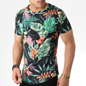 /achat-t-shirts-longs-oversize/john-h-tee-shirt-oversize-it-015-noir-vert-floral-183216.html