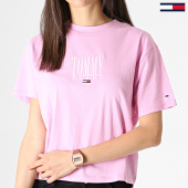 /achat-t-shirts/tommy-hilfiger-jeans-tee-shirt-femme-embroidery-graphic-6721-rose-182983.html