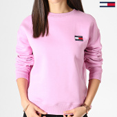 /achat-sweats-col-rond-crewneck/tommy-jeans-sweat-crewneck-femme-badge-6814-rose-182985.html