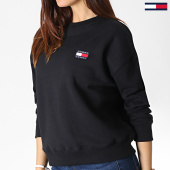 /achat-sweats-col-rond-crewneck/tommy-jeans-sweat-crewneck-femme-badge-6814-noir-182986.html