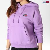 /achat-sweats-capuche/tommy-hilfiger-jeans-sweat-capuche-femme-badge-6815-violet-182988.html