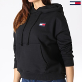 /achat-sweats-capuche/tommy-hilfiger-jeans-sweat-capuche-femme-badge-6815-noir-182990.html