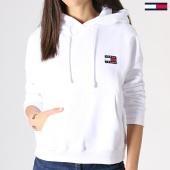 /achat-sweats-capuche/tommy-hilfiger-jeans-sweat-capuche-femme-badge-6815-blanc-182991.html