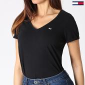 /achat-t-shirts/tommy-hilfiger-jeans-tee-shirt-col-v-femme-soft-jersey-6899-noir-182994.html