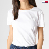 /achat-t-shirts/tommy-hilfiger-jeans-tee-shirt-femme-soft-jersey-6901-blanc-183003.html