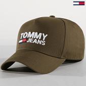 /achat-casquettes-de-baseball/tommy-hilfiger-jeans-casquette-logo-cap-4968-vert-kaki-183076.html