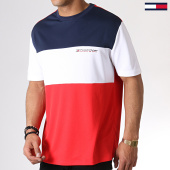 /achat-t-shirts/tommy-sport-tee-shirt-tricolore-colour-block-logo-0109-rouge-bleu-marine-blanc-183153.html