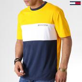 /achat-t-shirts/tommy-sport-tee-shirt-colour-block-logo-0109-bleu-marine-jaune-blanc-183154.html