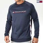 /achat-sweats-col-rond-crewneck/tommy-sport-sweat-crewneck-knit-logo-tape-0122-bleu-marine-blanc-rouge-183156.html