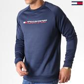 /achat-sweats-col-rond-crewneck/tommy-sport-sweat-crewneck-knit-0141-bleu-marine-183159.html