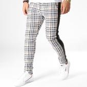 /achat-pantalons-carreaux/uniplay-pantalon-a-carreaux-avec-bandes-go56-beige-noir-blanc-183034.html